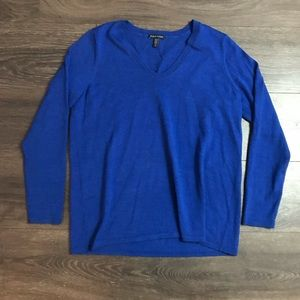 Eileen Fisher Blue Sweater Size Small Loose Fit